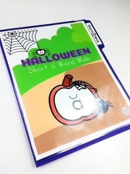 Halloween File Folder Game, Halloween Phonics Center, Halloween Words, Short a