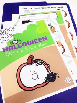 Halloween File Folder Game, Short A Phonics Center
