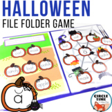 Halloween File Folder Game
