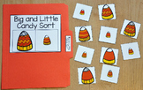 Halloween File Folder Game:  Big and Little Candy Corn Sort