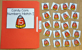 Halloween File Folder Game:  Candy Corn Numbers Match