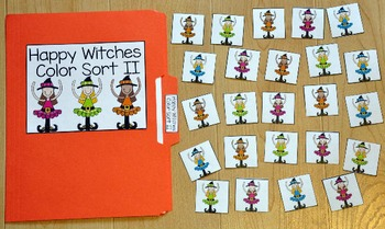 halloween file folder game happy witches color sort ii