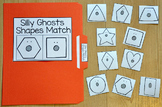 Halloween File Folder Game: Silly Ghosts Shapes Match