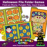 Halloween File Folder Games Bundle
