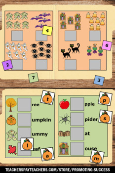 Halloween File Folder Games, Special Education Math and Literacy Centers