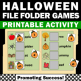 Halloween Math & Literacy Activities File Folder Games Special Education Autism