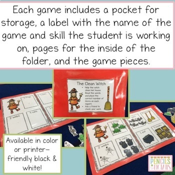 Halloween File Folder Games - Perfect for Morning Work, Centers, & More!