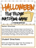 Halloween File Folder Matching Game