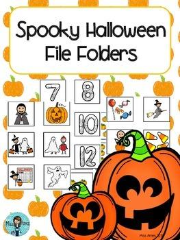 Halloween File Folders