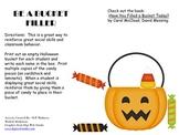 Halloween Fill a Bucket Social Skills Behavior Classroom Management