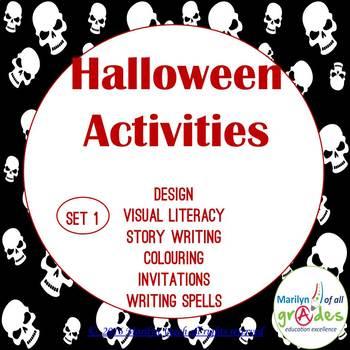 Halloween Activities & Worksheets -  Set 1