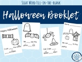 Halloween Fill in the Blank Booklet