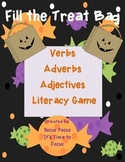 Halloween Fill the Treat Bag Verb-Adverb-Adjective Sort CC