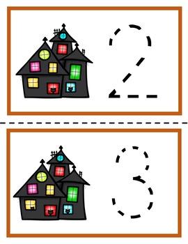 Halloween Find, Count & Trace Math Center for Preschool, PreK, K & Homeschool