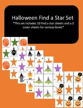 Halloween Find a Star Sets for VIPKID, Gogokid, and Online ESL