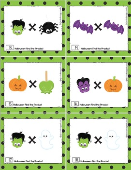 Halloween Math Multiplication Find the Product