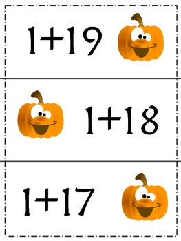 Halloween Find the Sum: A Common Core Aligned Center