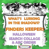 Halloween Finders Keepers Search Collage & ABC Order