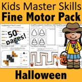 Halloween Fine Motor Activities Pack - (With Math and Sigh