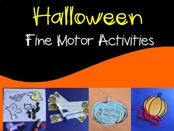 Halloween Fine Motor Activities for Preschool and Kindergarten