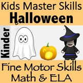 Fine Motor Skills Series: Halloween Bundle with Math and ELA