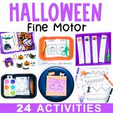 Halloween Fine Motor Activities October Preschool Centers, Work Tubs, Worksheets