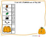 Halloween Fine Motor Kit -Pattern cards, Roll a Pumpkin, cutting, line tracing