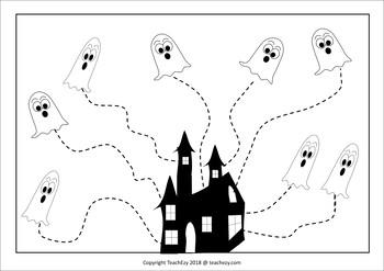 Halloween Fine Motor Skills Preschool/Kindergarten FREE