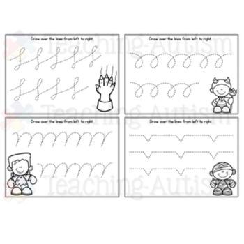 Halloween Fine Motor Skills Task Cards