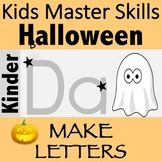 Halloween Fine Motor Skills and Letter Recognition: MAKE LETTERS!