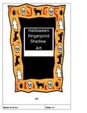 Halloween Fingerprint Art Shadows