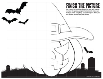 Halloween - Finish the Pictures (Symmetry)