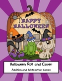 First Grade Math Games {Halloween Addition & Subtraction R