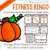 Halloween Fitness Bingo