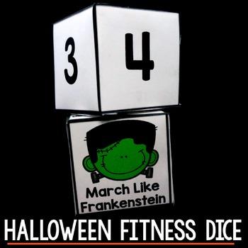 Halloween Fitness Dice - Free Halloween Activity