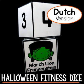 Halloween Fitness Dice - Free Halloween Activity DUTCH VERSION