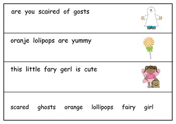 Halloween Fix it Sentences