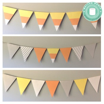 Halloween Flag Banner- Candy Corn Decoration
