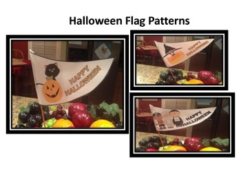 Halloween Flag Patterns (set of 3)