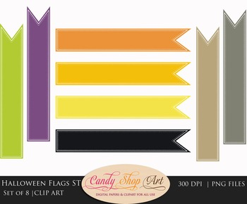 Halloween Flags, Halloween Banner Flags, Web Banner Flags, Clip Art