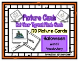 Halloween Flash Cards - Double Sided Picture / Word Option