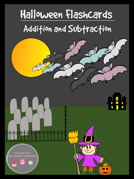 Halloween Flashcards - Addition and Subtraction