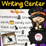 Halloween Pictionary Cards - Vocabulary, Writing Center, W