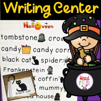 Halloween Flashcards Theme Words Poster Vocabulary Pictionary