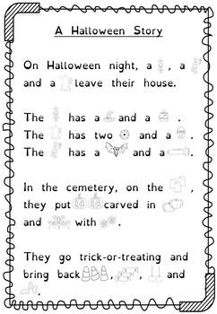 Halloween Flashcards and Writing