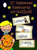 Halloween Flashcards as Gaeilge