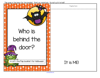 Halloween Interactive Reader, Word Wall, Puppets