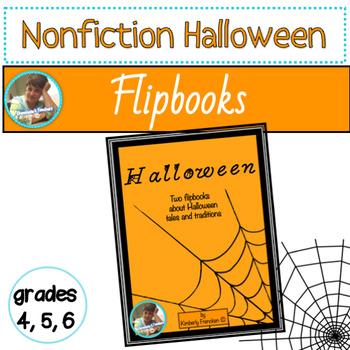 Halloween Flip Books Reviewing ELA Skills