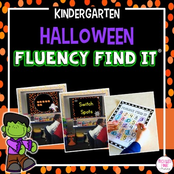 Halloween Fluency Find It (Kindergarten)
