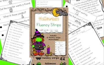 Halloween Fluency Strips